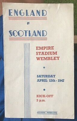 England V Scotland 12/4/1947 Pirate Programme Autographed By 5 Players