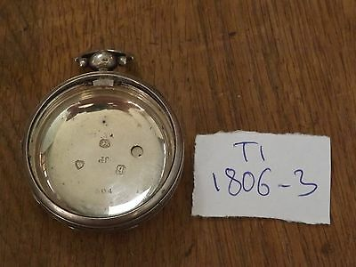 Quality Antique Solid Sterling Silver  Pocket Watch  Case