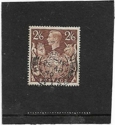 """""""GB Stamps OLD KING GEORGE VI 1939 2s.6d. BROWN  SG.476 FINE USED"""