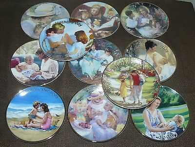 "Set of 11 Avon 5"" Mother's Day Collector Plates 1997-2009 Except for 2002 & 2008"