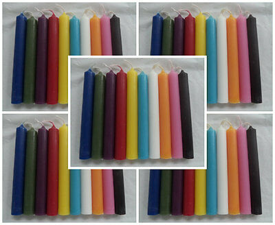"""WHOLESALE LOT OF 50 MINI 4"""" CHIME SPELL CANDLES (Altar Wicca Pagan Magick)"""