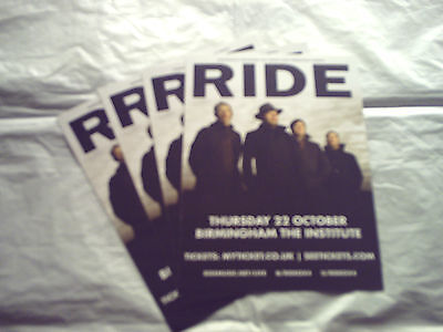 RIDE (SHOEGAZE) - UK TOUR 2015 (4 x PROMO SHOW CARDS)