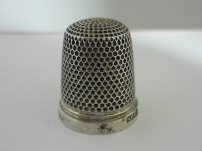 "Stunning Sterling Silver Thimble Size 17 ""The Spa"" - Henry Griffith & Sons Ltd"