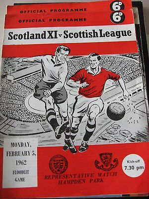 5.2.1962 Scotland XI v Scottish League Representative Match @ Hampden Park