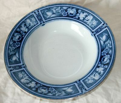 Antique F & Sons/Ford & Sons 'Brampton' Blue & White Large Soup Bowl/Plate