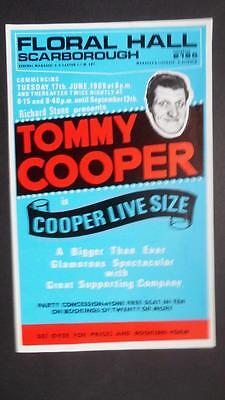 Flyer Handbill 1969 Tommy Cooper Floral Hall Scarborough Magic Magician  Variety
