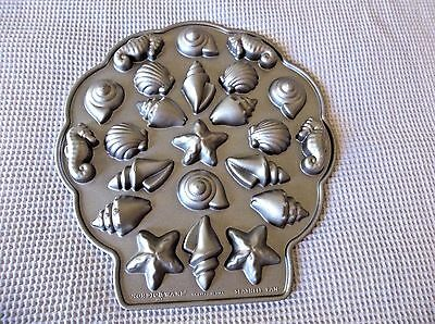 Nordic Ware Platinum Collection Sea Shell Teacakes Pan Exceptional Collectible