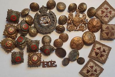 Ww11 Royal Engineers  Badges Buttons Etc