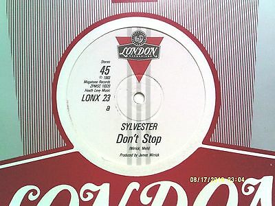 """SYLVESTER with PATRICK COWLEY DON'T STOP / WANNA FUNK 12"""" SINGLE 1983 N/MINT"""