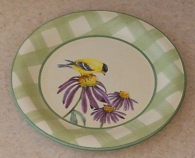 """LENOX china SUMMER GREETINGS pattern DINNER PLATE 10-3/4"""" GOLDFINCH"""