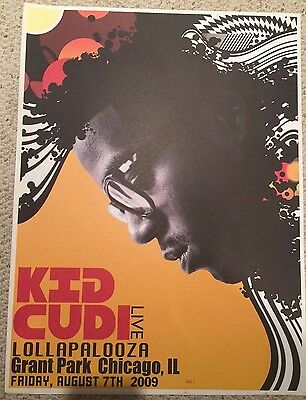 Kid Cudi Live Lollapalooza 2009 Limited Edition Numbered Promo Poster #0613