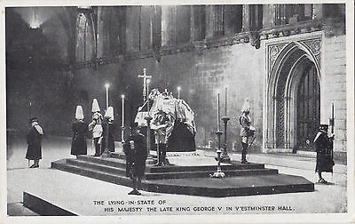 Lying-in-State of the Late KING GEORGE V 1936 Postcard
