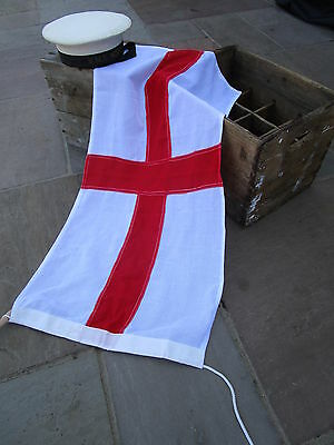 "Vintage Ex Royal Navy stock Ensign FLAG BRITISH MADE Approx 3ft x 1ft 5"" quality"