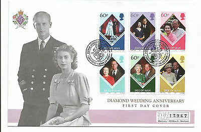 ISLE Of MAN 2007 QUEEN DIAMOND WEDDING ANNIVERSARY FIRST DAY COVER
