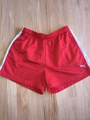 Puma Vintage Red White Stripes Shorts Unisex Medium Retro Length