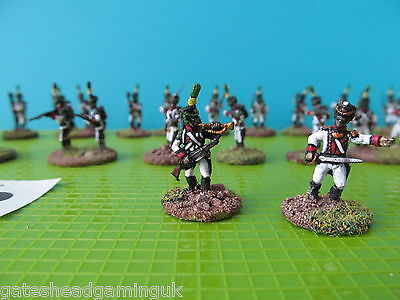 Napoleonic French White Uniformed Infantry 20mm Painted Wargames Miniatures #702