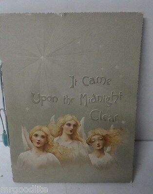 Early 1900's Germany Printed Christmas Book - IT CAME UPON THE MIDNIGHT CLEAR