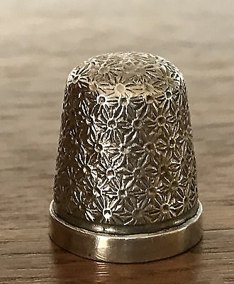 Antique Hallmark 1926 Sterling Silver Thimble Henry Griffith & Son H.G&S Size 16
