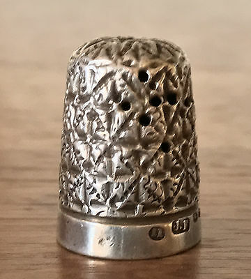 Antique 1898 Birmingham Hallmark 5.1g Sterling Silver Thimble Made by J.F