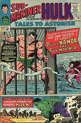 Tales To Astonish # 70 - First In Submariner Series - Jack Kirby Art - Cents