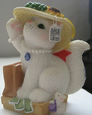 Calico Kittens 2000 Enesco Figurine Friendship Real Deal Hat Price Tag Shopping