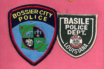 2 Louisiana- Old Style-Bossier City Pd & Basile Police Dept