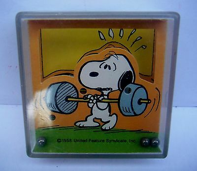 Vintage Peanuts Snoopy Toy Dexterity  Puzzle Game United Feature Syndicate 1958