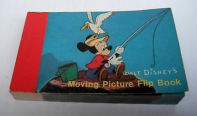 Vintage Walt Disney's  Mickey Mouse Double Sided Moving Picture Flip Book