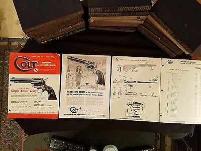 """Colt's Patent Fire Arms Mfg. Co."" 1957 Brochures Parts Lists Illustrated"