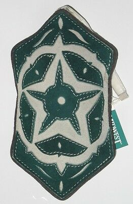 *NwT* Large Green SuEdE Christmas Ornament w/StAr