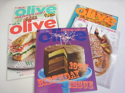 Olive Magazines Lot Of 5  2013  Jul-Aug-Sep-Oct-Nov  Quality Food Magazines.