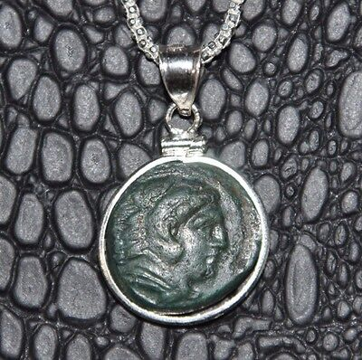 Alexander III The Great Authentic Coin 925 Solid Sterling Silver Pendant & Chain