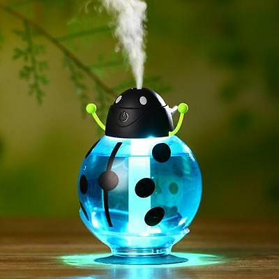 Cute Beatles Home Aroma LED Humidifier Air Diffuser Purifier Atomizer Blue #A