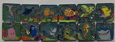 Disney Parks FINDING NEMO Dory Character Mystery Puzzle 12 Pin LE Set - Chasers