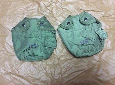 2 Lot USMC Army Military Surplus LC-2 ALICE 1 Quart Water Canteen Cover Pouch GI