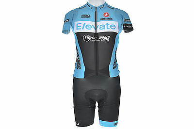 Castelli Sleeved Elevate Triathlon Suit 1-Piece SMALL Profile Design