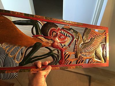 Superb  'Lombok' , Indonesia. Carved Wall Panel. 750 X 220