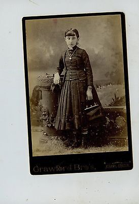 CABINET CARD,Vintage Photo, Young Girl, Albany, Oregon