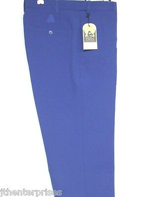 Official BA Flexi Waist Tailored Trousers Pants Tone on Tone Logo ROYAL