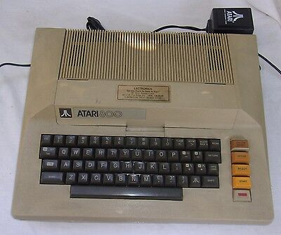Vintage Atari 800 Computer With Power Supply In Good Condition Untested As Is