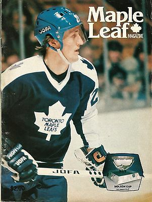 March 28, 1979 MLG Toronto Maple Leafs & Washington Capitals hockey program