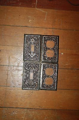 Vintage Ornate Metal Light Switch & Outlet Covers