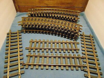 KALAMAZOO TRAIN TRACK, G SCALE, 12 CURVED and 4 STRAIGHT, BRASS RAILS