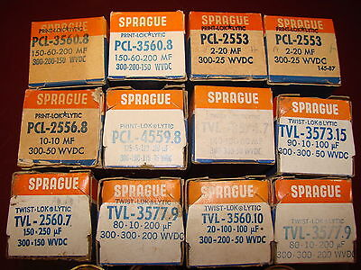 12 Sprague Can Filter Capacitors, 300 VDC, NOS for Tube Amplifier