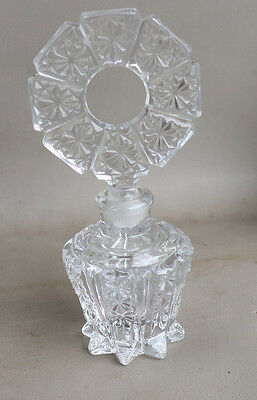 Vintage 1920s Crystal Glass PERFUME BOTTLE