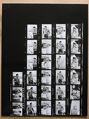 Farrah Fawcett original contact sheet of candid TV photos 1986 Between Two Women