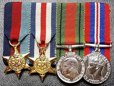 Replica Set of 4 Canada World War II WW2 Miniature Medals with Pin
