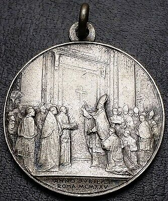 Vintage 1925 Vatican Pope Pius XI Religious Medal, Rome - Jubilee Holy Year