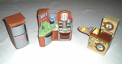 Fisher Price Loving Family Doll House Furniture Stove Washing Machine Sounds