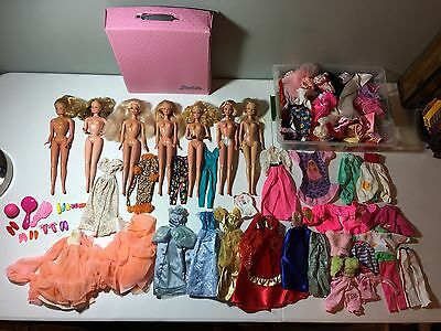 Vintage 1966 Barbie Lot, Case, Accessories, Huge Lot of Clothes
